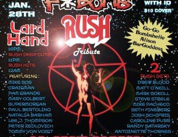 Undergound NYC: FBOMB – Rush Tributes/Lard Hand @ Arlene's Grocery 1/28